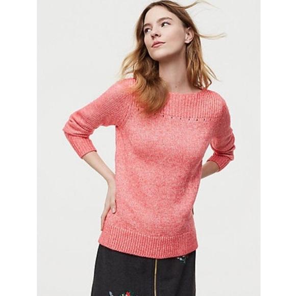 1b78635d10308 LOFT Sweaters   Pink Ribbed Boatneck Sweater   Poshmark